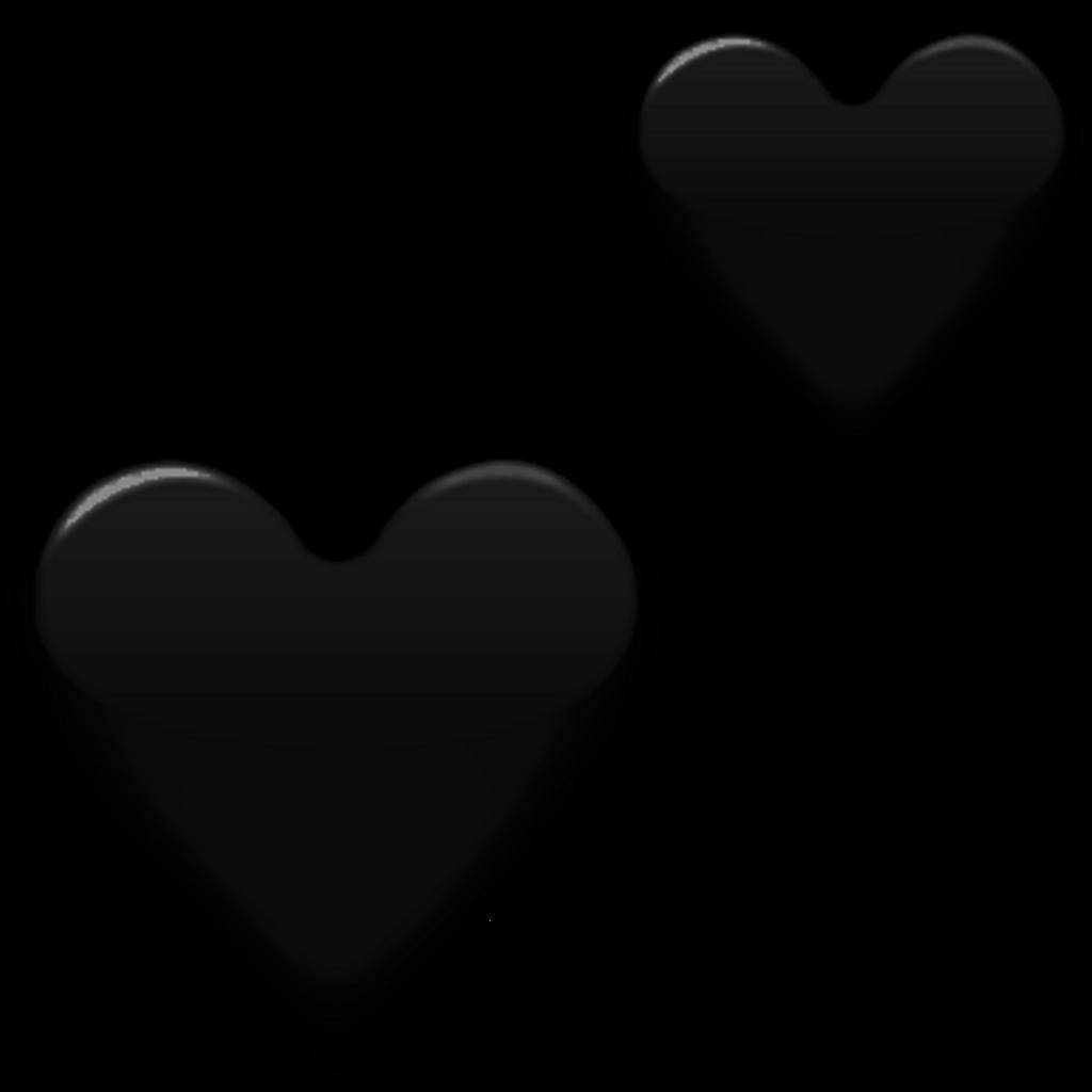 transparent black heart - HD1024×1024