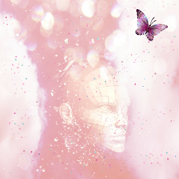 freetoedit pink wallpaper cute butterfly magic knight