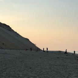 freetoedit sunset beach cliffs nature