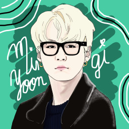 dckpopart kpopart minyoongi bts drawing