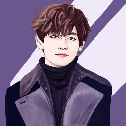 dckpopart kpopart kimtaehyung bts drawing