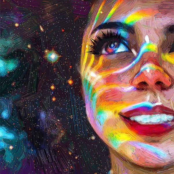 #art #girl #colorful #galaxy #stars #space #draw #drawing #sky #night