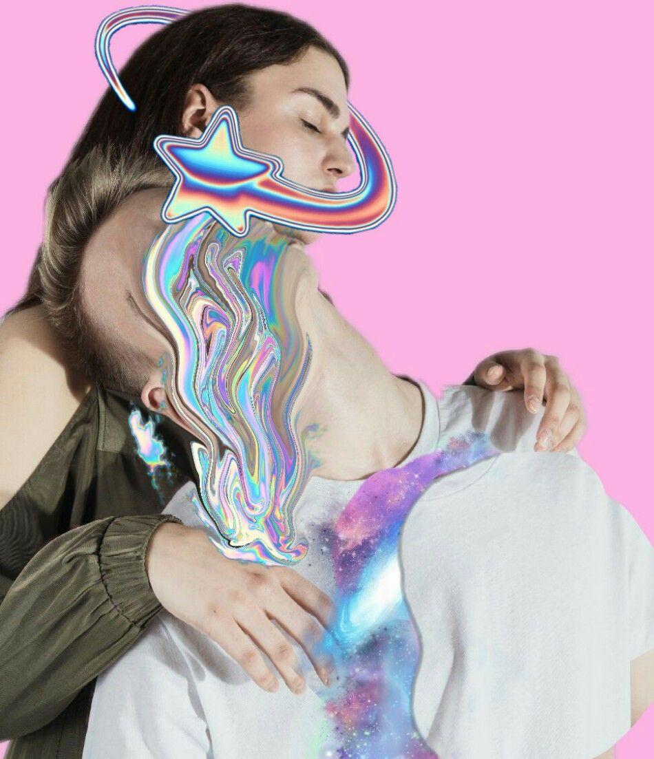 #holographic #galaxy #vaporwave #edits #picsart #raibow