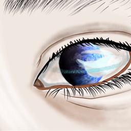 freetoedit cartoonized eyesefects wolrd eyes
