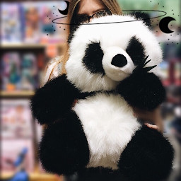 freetoedit panda moon toy softtoy