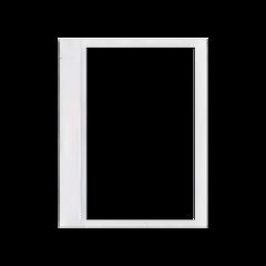 border buck rectangele white window freetoedit