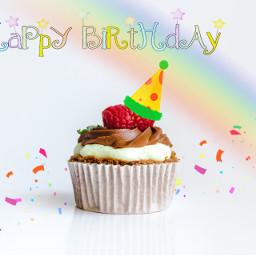 freetoedit happybirthday cakes rainbow cupcake remix smilesfordays irccupcakeday cupcakeday