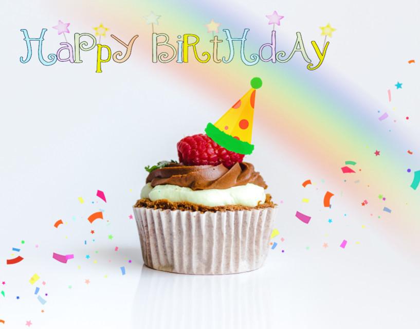 #freetoedit #happybirthday #cakes #rainbow #cupcake #remix #smilesfordays  #irccupcakeday #cupcakeday @picsart