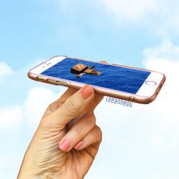 freetoedit iphone hand water danbo