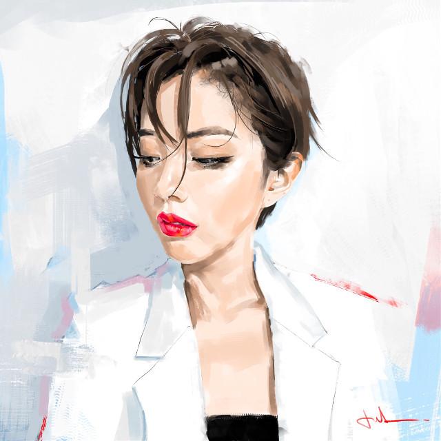 #punksy #artist #painter #illustrator #drawing #daengsuni #asiangirl #koreangirl #kpop #pixiv #fashion #fashionart #moda