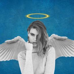 angel angelwings halo girl freetoedit