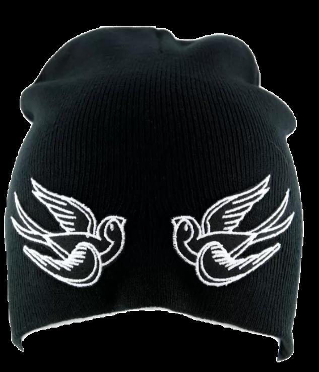 3f08522ba06 bird black beanie beanies hat tumblr grunge kpop kawa...