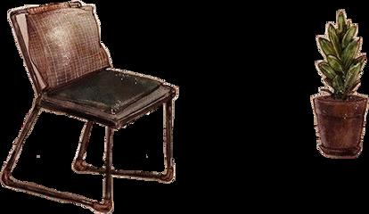 watercolor chair flowerpot freetoedit