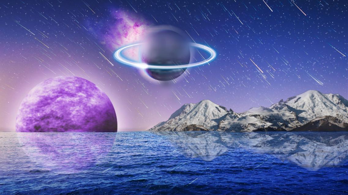 #planet #strange #sea #night #sky