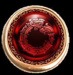 red disc shield emblem