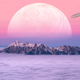 freetoedit planet mountains clouds sunset