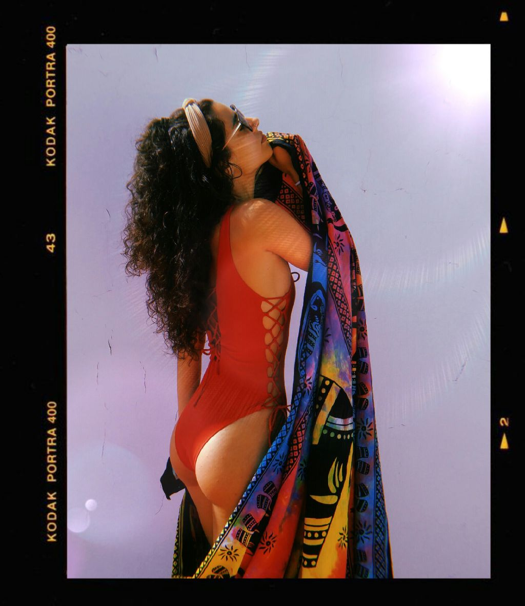 Sunlight ✨   #freetoedit #girl#curls #tumblr #tumblrgirl #curlyhair #swimwear #kodak #retro #remixit
