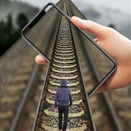 freetoedit traintracks iphonex