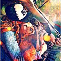 eclensflare lensflare freetoedit mansbestfriend dog