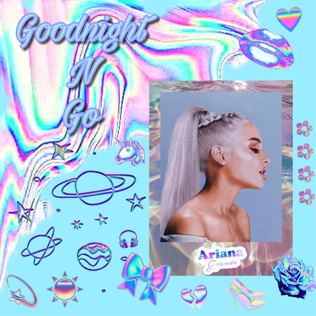 #freetoedit #arianagrande #edit #goodnightngo #sweetener #song #music #pop #holographic #holo #art #artist #woman #blueaesthetic
