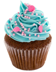 cupcake chocolate blue pink sprinkles freetoedit