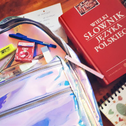 backtoschool2018 backpack polishdictionary polishlessons frenchlessons pcschoolsuppliesflatlay schoolsuppliesflatlay