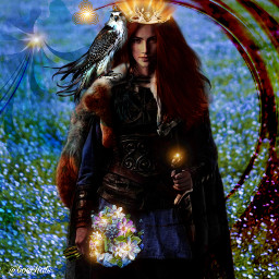 ircenchantingportrait enchantingportrait freetoedit celtic bride