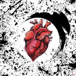 heart black paint drawing blackpaint freetoedit