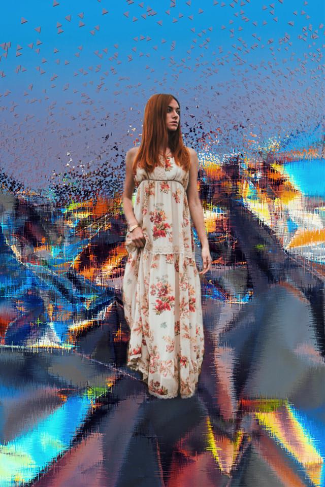 #freetoedit #edit #glitch #woman #beautiful