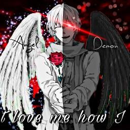 demon angel demonboy demoneyes demonwings freetoedit