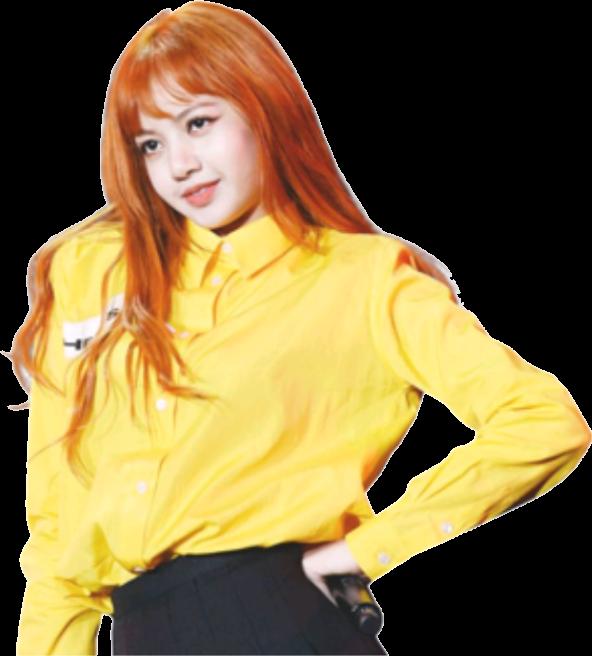 Lisablackpink Blackpink Lisa Kpop Orange Yellow Koreanp