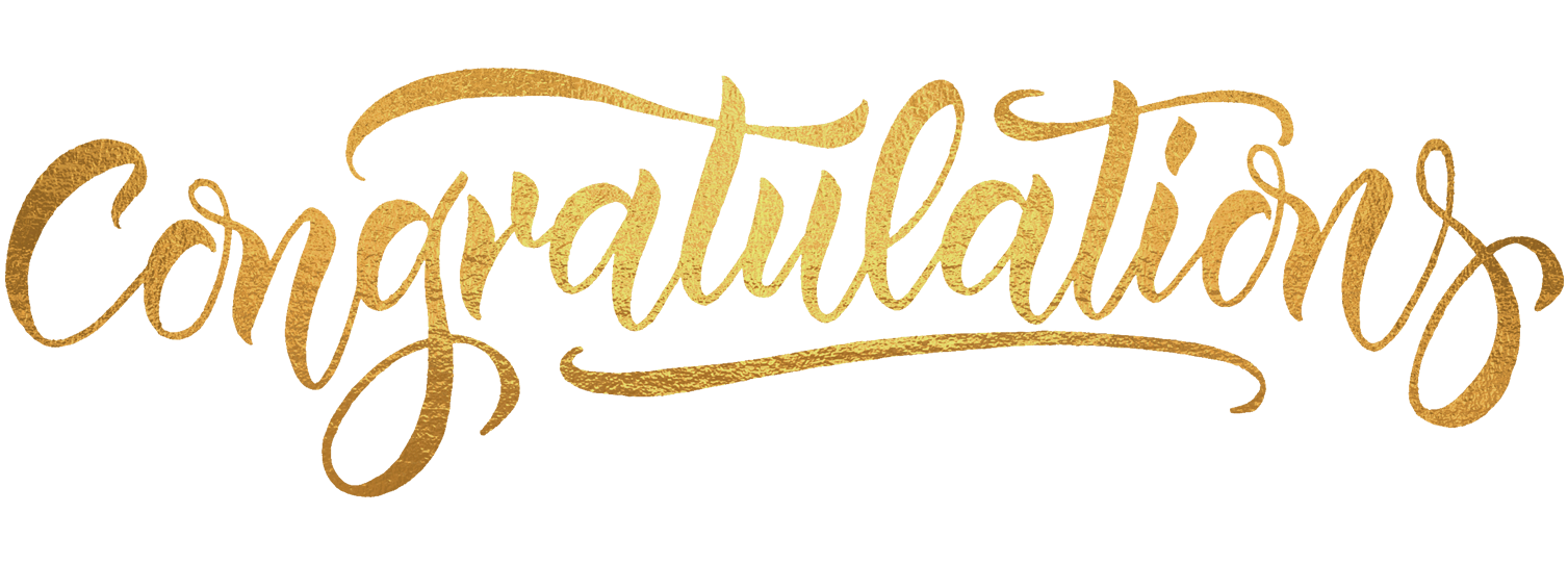 Ftestickers Text Typography Congratulations Gold