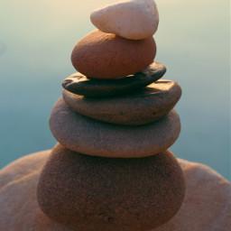 summertime stackingstones stilllife seawaterbackground lateafternoon freetoedit