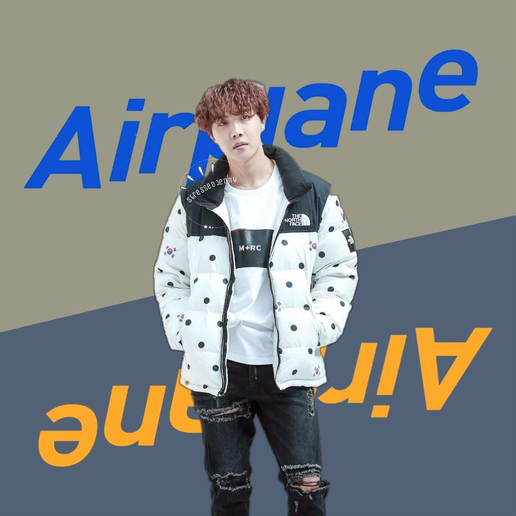 ❁ airplane pt. 1 and 2 • apparently hope world came out 6 months ago time is weird that feels like so long ago but also feels like yesterday { bts requests are always open } ✧credits✧   ◌ hoseok from @/ tsuu_tsuu_    ◌ text from @/ vkook1af  ↳ tags↴ #freetoedit #junghoseok #bts #bangtanboys #jhope #beyondthescene #airplane #hopeworld