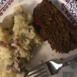freetoedit food meatloaf potatoes plate
