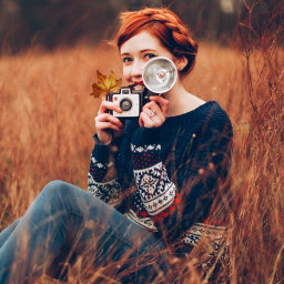 freetoedit outono girl woman ruiva
