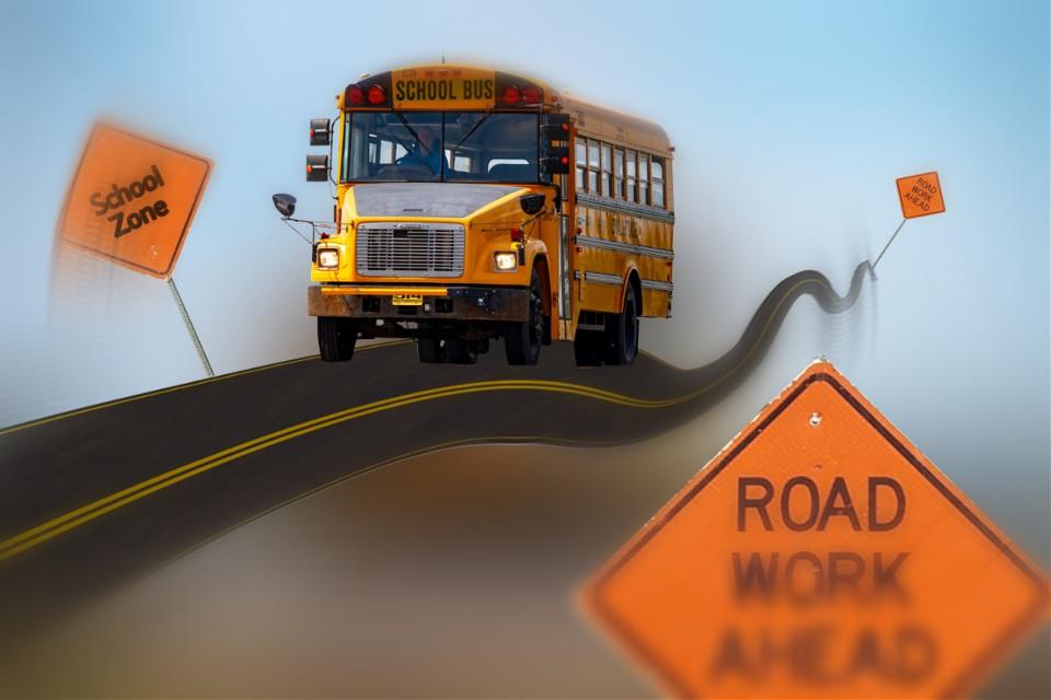 #freetoedit #schoolbus #roadwork #ircyellowschoolbus
