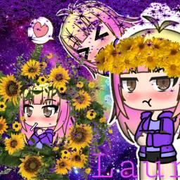 gachaverse cute kawai crownflower freetoedit