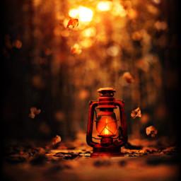 autumnsunset freetoedit lantern
