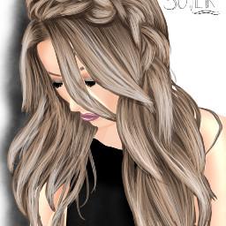 hair cartoonized