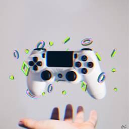 3d 3dart videogames floating hand