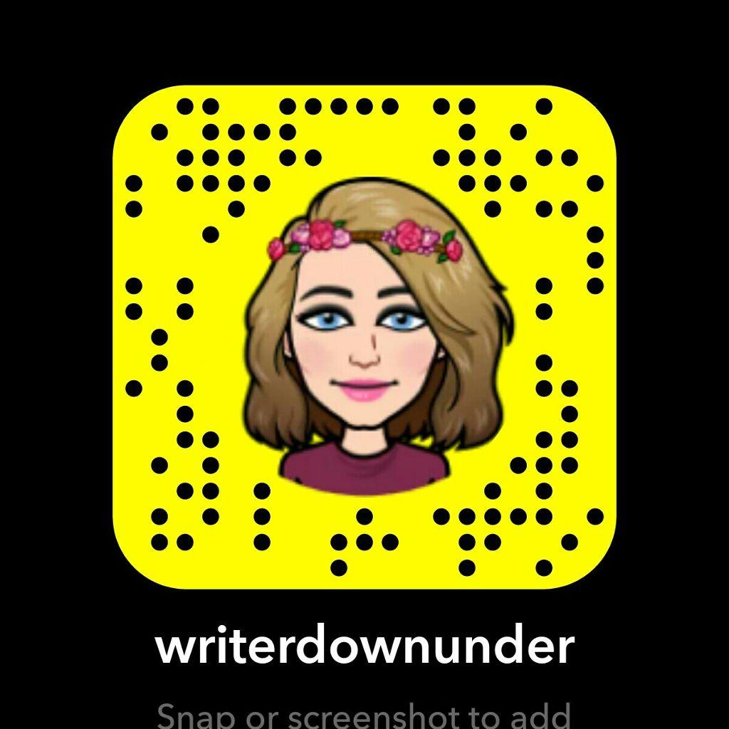 Add me on over @ #writerdownunder on Snapchat!  #bitmoji #snapchat #socialmedia #myaccounts #followers