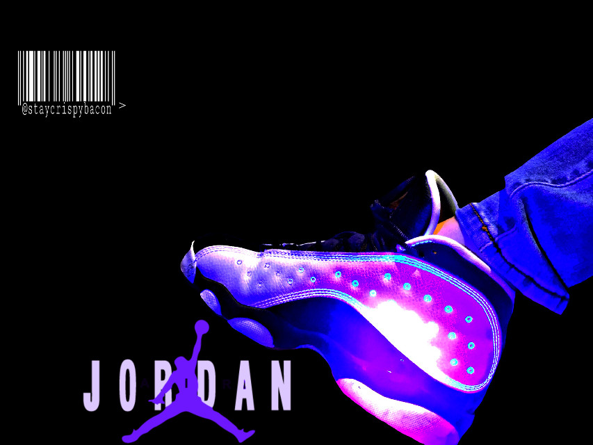 #freetoedit #jordans #blacklight #sneakerheads #shoesoftheday #13s #barcode #intresting #creative