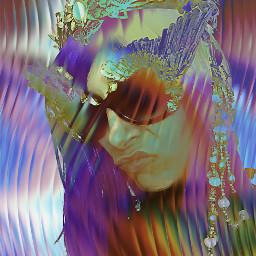 portrait edit colorful pop sunglasses