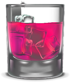 glass drink mixeddrinks liquor pink