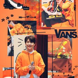 freetoedit jeongin i skz orange