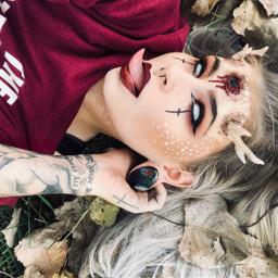 deergirl deermakeup halloween2018 happyhalloween gore scenegirl freetoedit