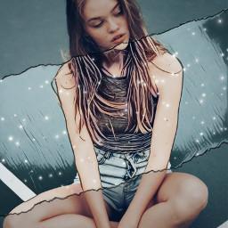freetoedit girl ripped undeadmagiceffect cartoondrawing