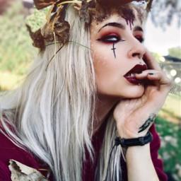 deergirl deermakeup halloween2018 happyhalloween gore freetoedit