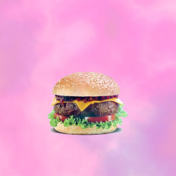 cheeseburger burger junkfood guiltypleasure freetoedit